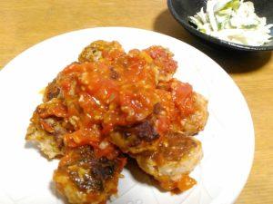 肉団子フレッシュトマトソース