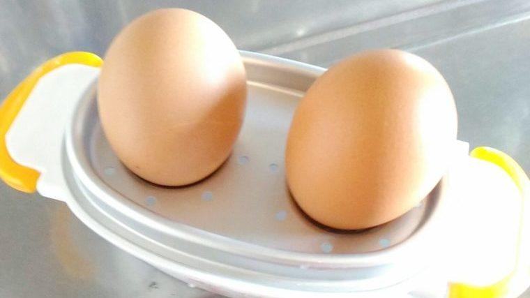 レンジでらくチンゆで卵