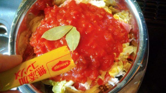 豚肉とキャベツのトマト煮