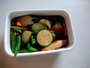 揚げ野菜 めんつゆ漬け